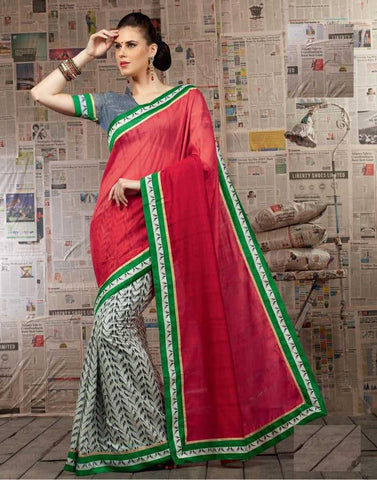 Grey and pink  Colour  Paithani silk  Material Sarees : Vaani Collection -  YF-17857