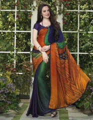 Green And Blue Color Jacquard Crepe Special Occasion Sarees : Darcy Collection  YF-25453