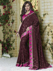 Brown Color Jacquard Crepe Special Occasion Sarees : Darcy Collection  YF-25459