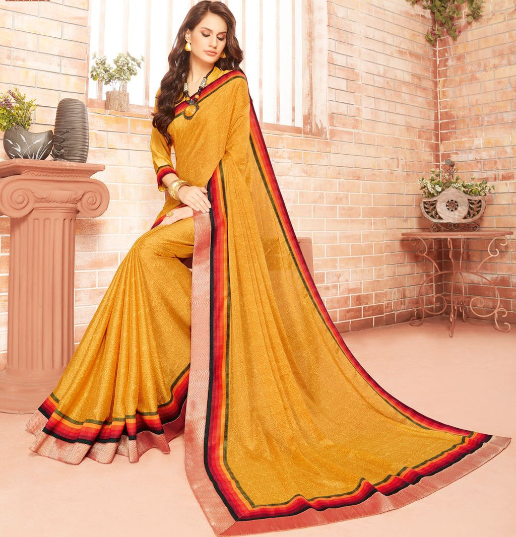 Yellow Color Chiffon Party & Function Wear Sarees : Ranjita Collection  NYF-2478 - YellowFashion.in