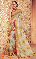 Light Green Color Georgette Designer Party Wear Sarees : Krisnita Collection  YF-57235