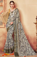 Black Color Georgette Designer Party Wear Sarees : Krisnita Collection  YF-57242