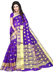 Purple Color Art Silk Festive Wear Sarees : Advisha Collection  YF-50792