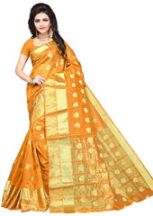 Mustard Yellow Color Art Silk Festive Wear Sarees : Advisha Collection  YF-50795