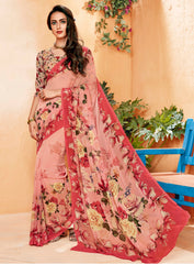 Pink Color Georgette Party Wear Sarees : Prashvita Collection  YF-57568