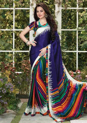 Multi Color Jacquard Crepe Casual Function Sarees : Vani Collection  YF-24899