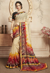 White and Blue Color Cotton Exclusive Sarees : Sinduri Collection  YF-43758