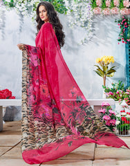 Pink Color Georgette Casual Wear Sarees : Krishnavi Collection  YF-57603