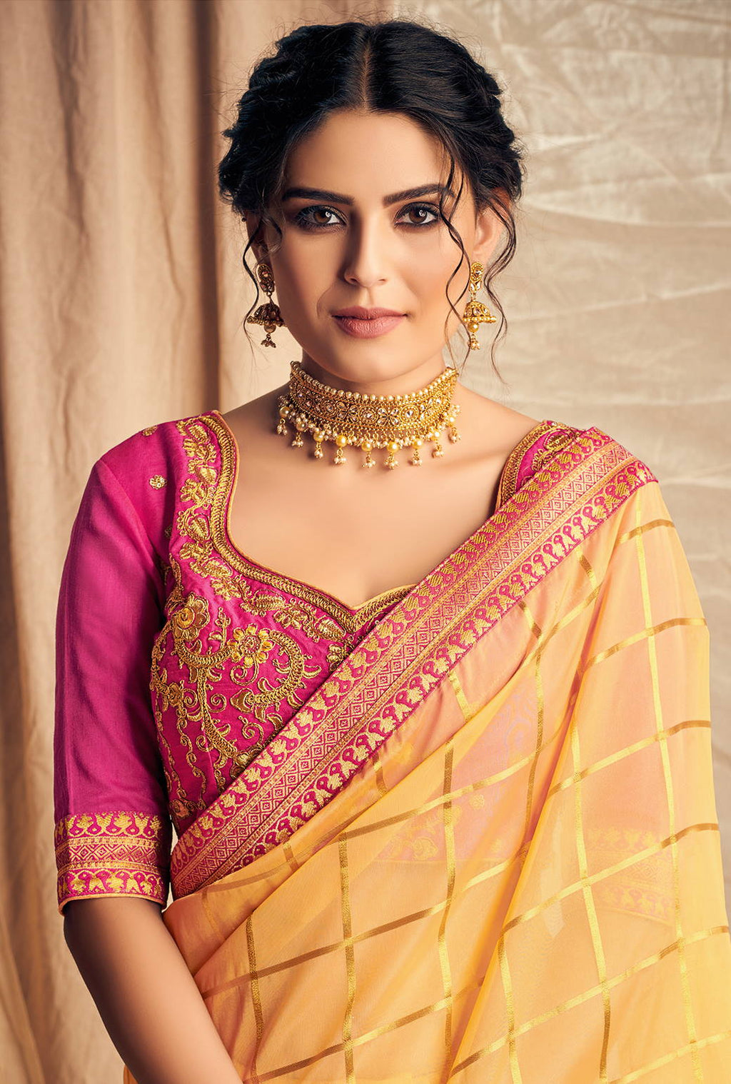Yellow Color Silk Dazzling Designer Sarees NYF-4164 - YellowFashion.in