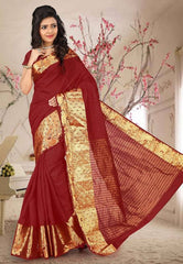 Maroon Color Sambhalpuri Cotton Silk Casual Function Sarees : Shubhra Collection  YF-39937