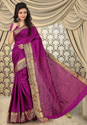 Magenta Color Sambhalpuri Cotton Silk Casual Function Sarees : Shubhra Collection  YF-39942