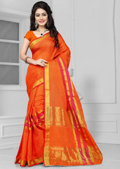 Orange Color Art Silk Casual Wear Sarees : Antra Collection  YF-50785