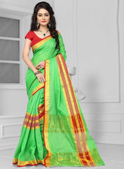 Green Color Art Silk Casual Wear Sarees : Antra Collection  YF-50787