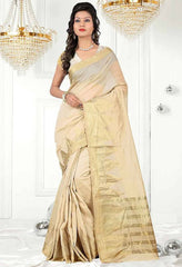 Light Coffee Color Sambhalpuri Cotton Silk Casual Function Sarees : Shubhra Collection  YF-39946