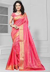 Pink Color Art Silk Casual Function Sarees : Bhakti Collection  YF-51682