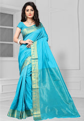 Firozi Color Art Silk Casual Function Sarees : Bhakti Collection  YF-51683