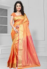 Orange Color Art Silk Casual Function Sarees : Bhakti Collection  YF-51684