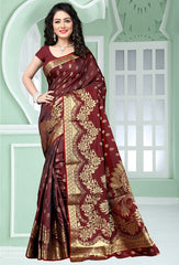 Brown Color Art Silk Festival & Function Wear Sarees : Mudita Collection  YF-51697