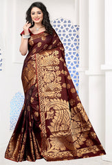 Brown Color Art Silk Festival & Function Wear Sarees : Pavni Collection  YF-51702