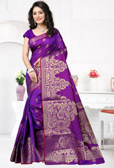 Purple Color Art Silk Festival & Function Wear Sarees : Rajsi Collection  YF-51707