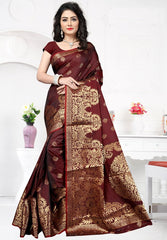 Brown Color Art Silk Festival & Function Wear Sarees : Rajsi Collection  YF-51710