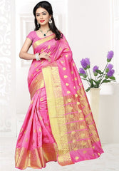 Pink Color Banarsi Silk Casual Party Sarees : Jenika Collection  YF-51961