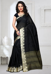 Black Color Art Silk Casual Party Sarees : Tiyara Collection  YF-52270