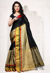 Black Color Art Silk Casual Wear Sarees : Miyara Collection  YF-52274