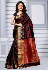 Black Color Art Silk Casual Party Sarees : Nishanti Collection  YF-52311