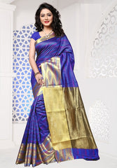 Purple Color Cotton Silk Casual Party Sarees : Sangina Collection  YF-52337