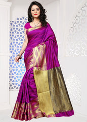 Magenta Color Cotton Silk Casual Party Sarees : Sangina Collection  YF-52341
