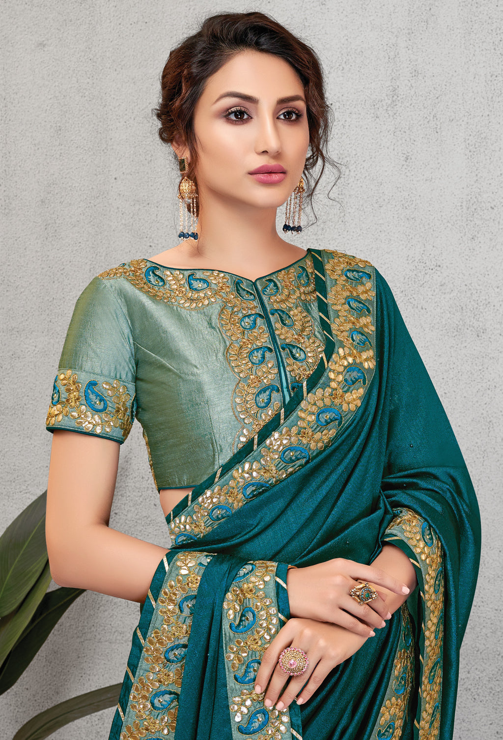 Green Color Crepe Silk Lovely Occasion Wear Sarees NYF-6130