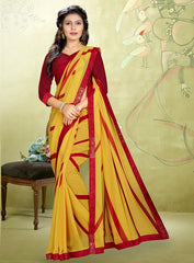 Yellow Color Georgette Kitty Party Sarees : Rimshi Collection  YF-55495