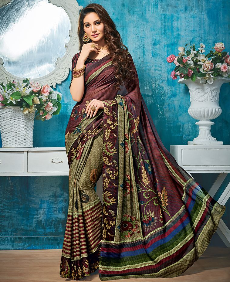Multi Color Pashmina Silk Party & Function Wear Sarees : Ranjita Collection  NYF-2465 - YellowFashion.in