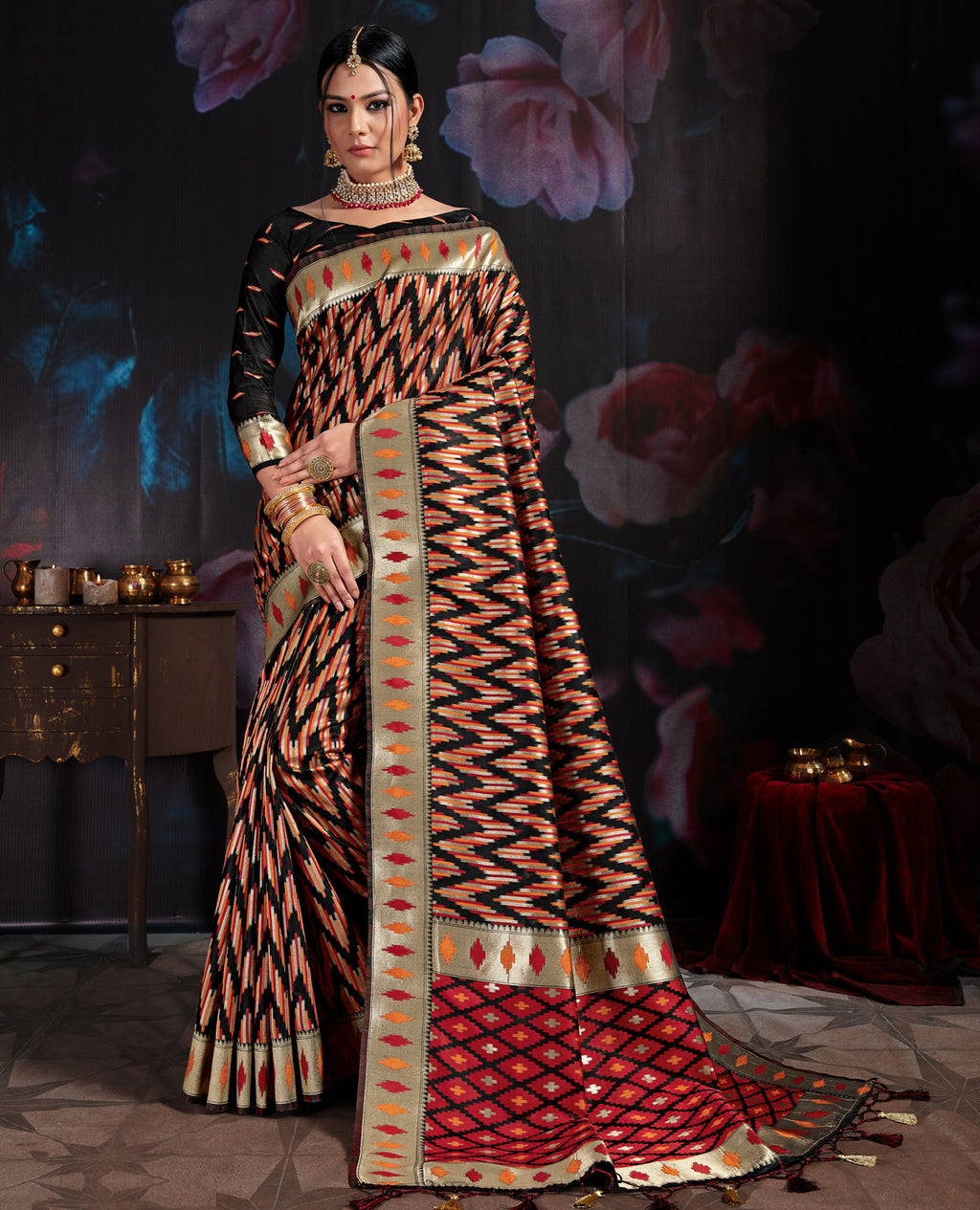 Black Color Banarasi Cotton  Silk  Pretty Designer Sarees NYF-5763