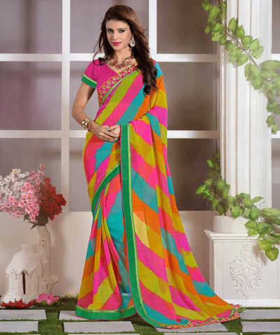 Multi Color Chiffon Casual Function Sarees : Nitika Collection  YF-28231