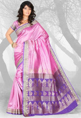 Pink & Purple Color Art Silk Casual Wear Sarees : Dhir Collection  YF-31546