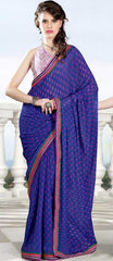 Choose from Ink Blue / Pink Colour  Georgette  Material Sarees : Rhythm Collection -  YF-14939