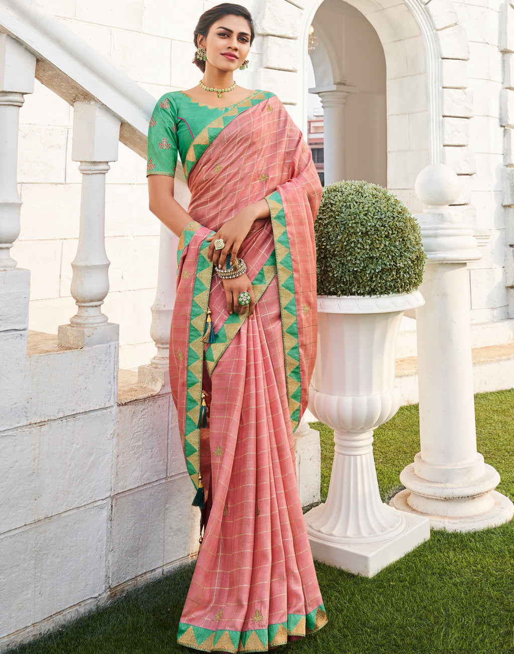 Pink Color Banarasi Cotton Silk  Sarees For Newly Wedded NYF-5698