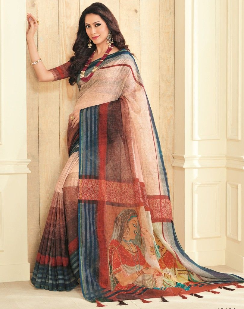 Multi Color Bhagalpuri Designer Function Wear Sarees : Gaurika Collection  NYF-1436 - YellowFashion.in