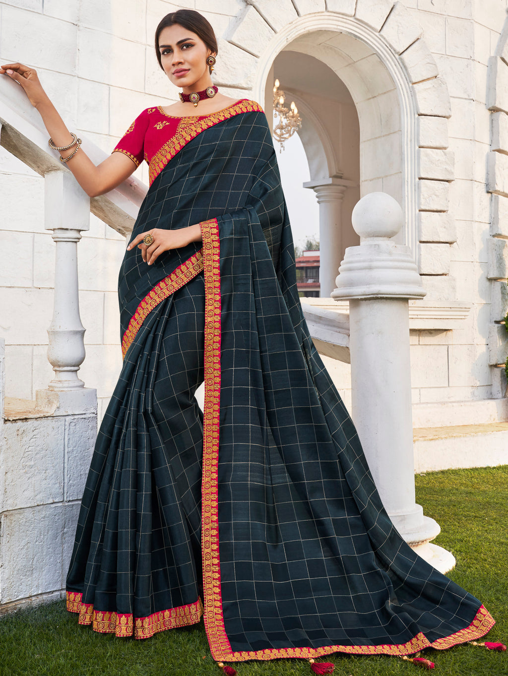 Black Color Banarasi Cotton Silk  Sarees For Newly Wedded NYF-5700