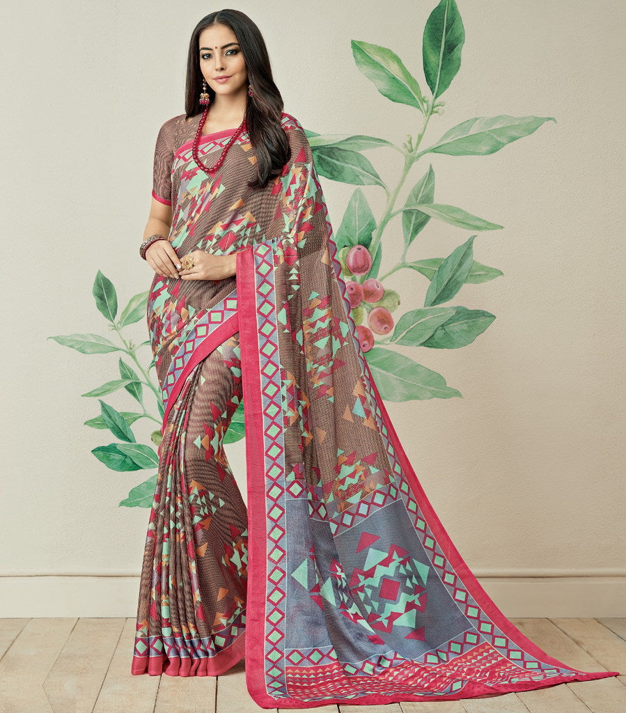 Multi Color Jute Art Silk Casual Party Sarees : Ambala Collection  NYF-2140 - YellowFashion.in