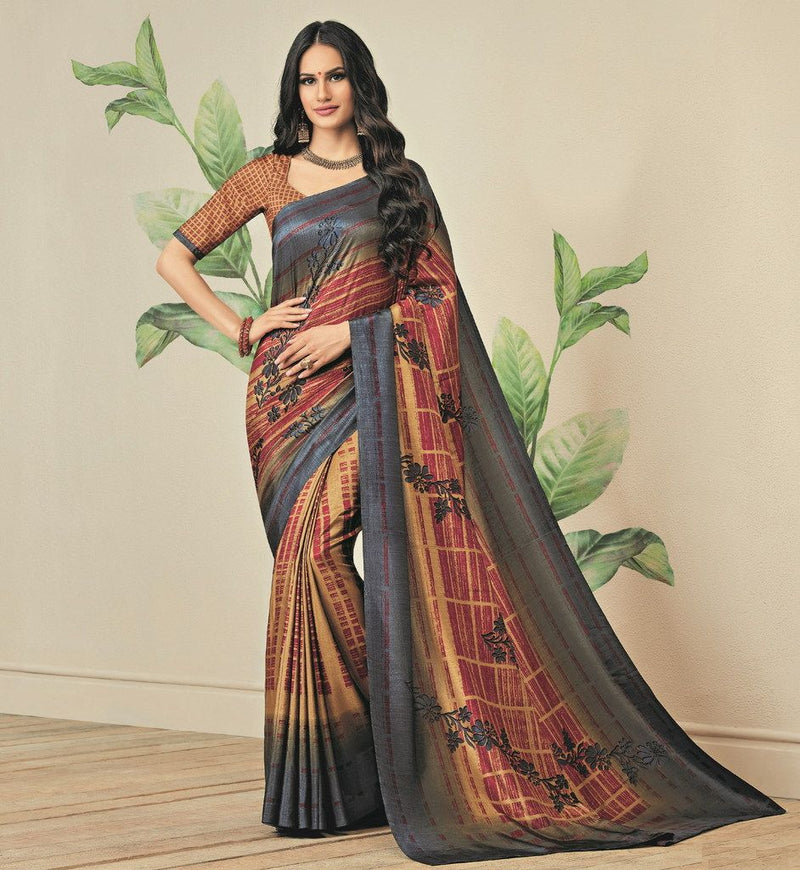 Multi Color Jute Art Silk Casual Party Sarees : Ambala Collection  NYF-2144 - YellowFashion.in