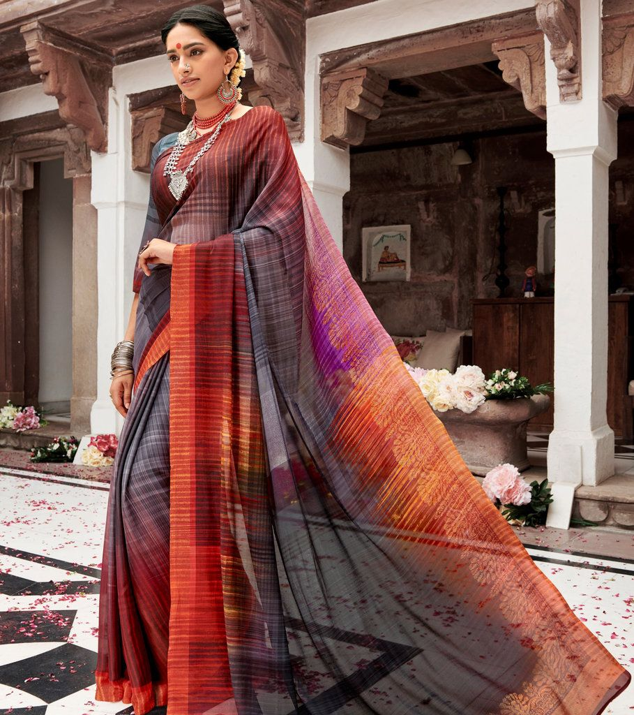 Multi Color Bhagalpuri Party & Function Wear Sarees :  Praniti Collection  NYF-2219 - YellowFashion.in