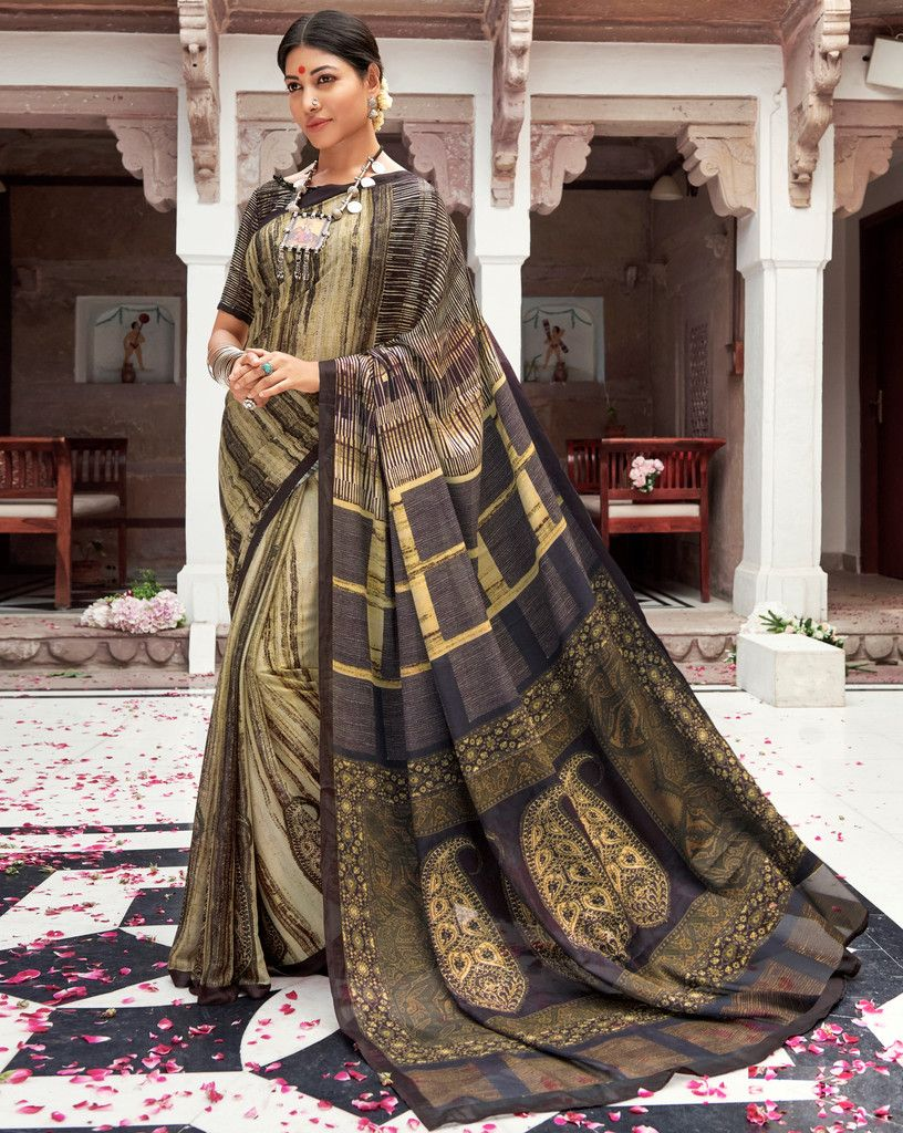 Multi Color Pashmina Silk Party & Function Wear Sarees :  Praniti Collection  NYF-2299 - YellowFashion.in