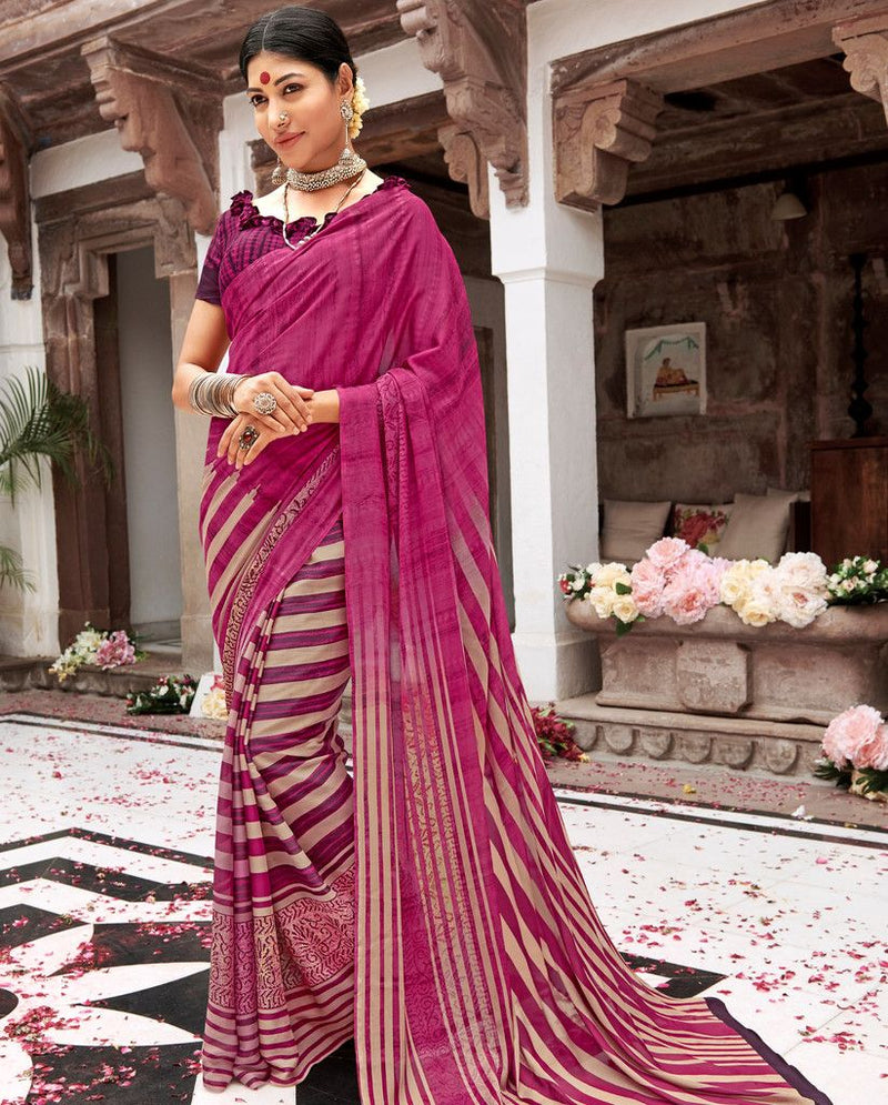 Pink Color Pashmina Silk Party & Function Wear Sarees :  Praniti Collection  NYF-2300 - YellowFashion.in