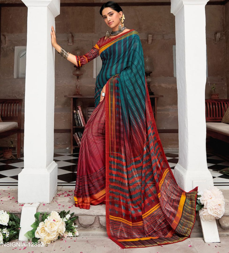 Red & Blue Color Pashmina Silk Party & Function Wear Sarees : Ranjita Collection  NYF-2454 - YellowFashion.in
