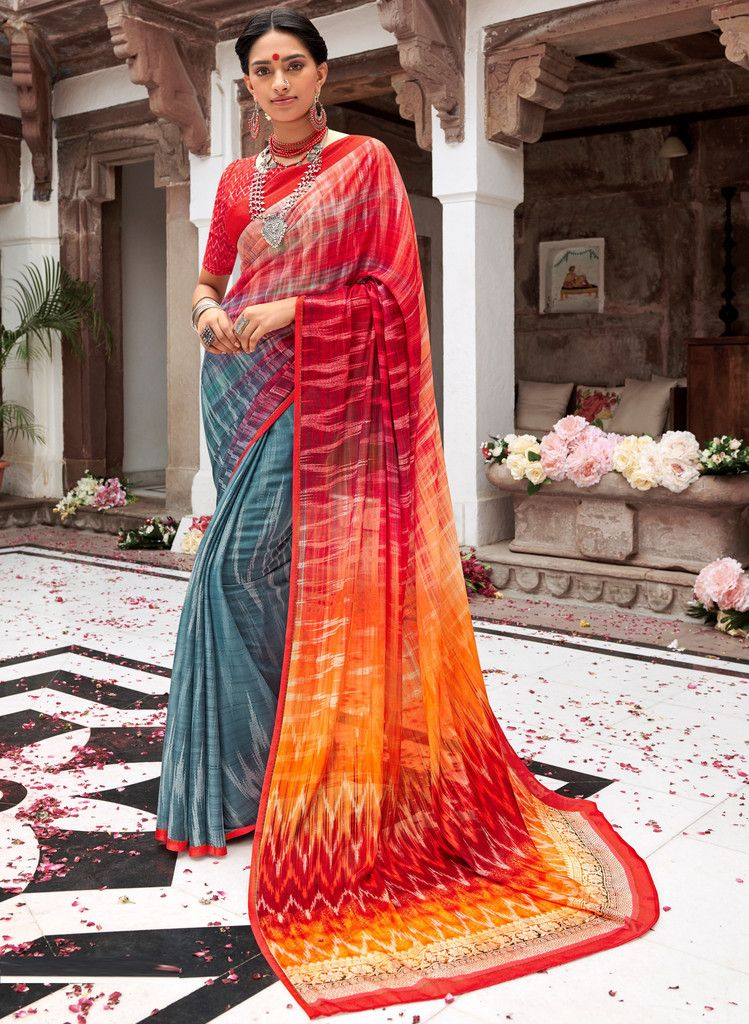 Multi Color Pashmina Silk Party & Function Wear Sarees :  Praniti Collection  NYF-2312 - YellowFashion.in