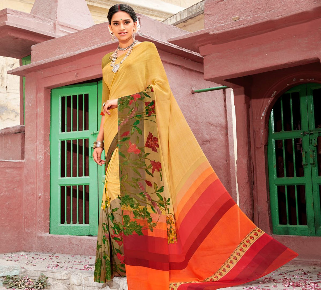 Multi Color Chiffon Party & Function Wear Sarees : Ranjita Collection  NYF-2436 - YellowFashion.in