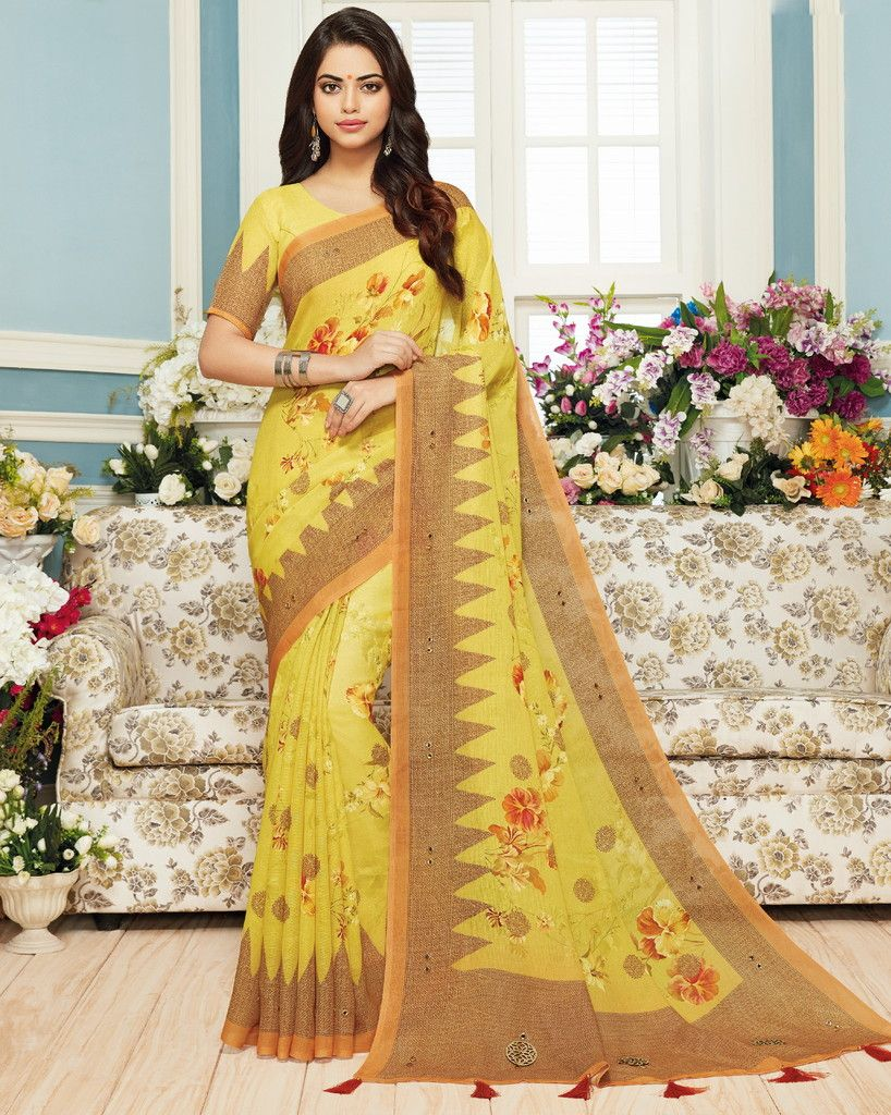 Yellow Color Pashmina Silk Designer Festive Sarees : Preshan Collection  NYF-2088 - YellowFashion.in